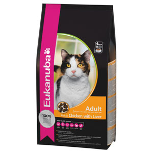 Cheap Eukanuba Adult Cat Chicken & Liver 10kg