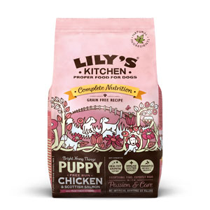 Cheap Lily's Kitchen Chicken & Salmon Dry Food for Puppies 1kg