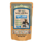 James Wellbeloved Puppy Pouch Turkey & Rice 10 x 150g